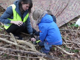 den making and fun in the woods